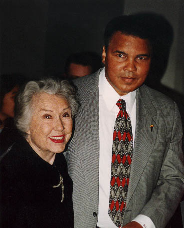 Fay Wray and Mohammed Ali